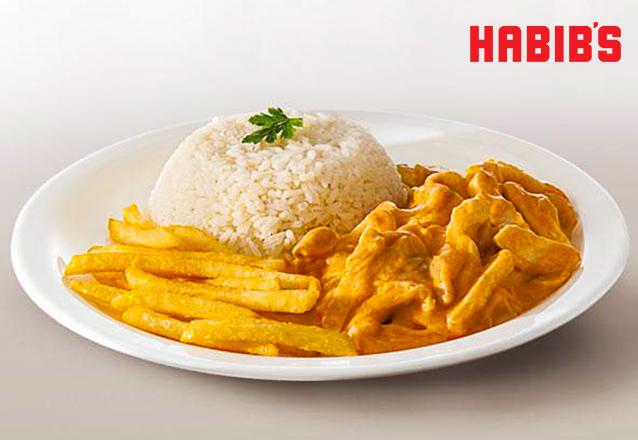 Estrogonofe de Frango: acompanha arroz e fritas de R$10 por apenas R$5,90