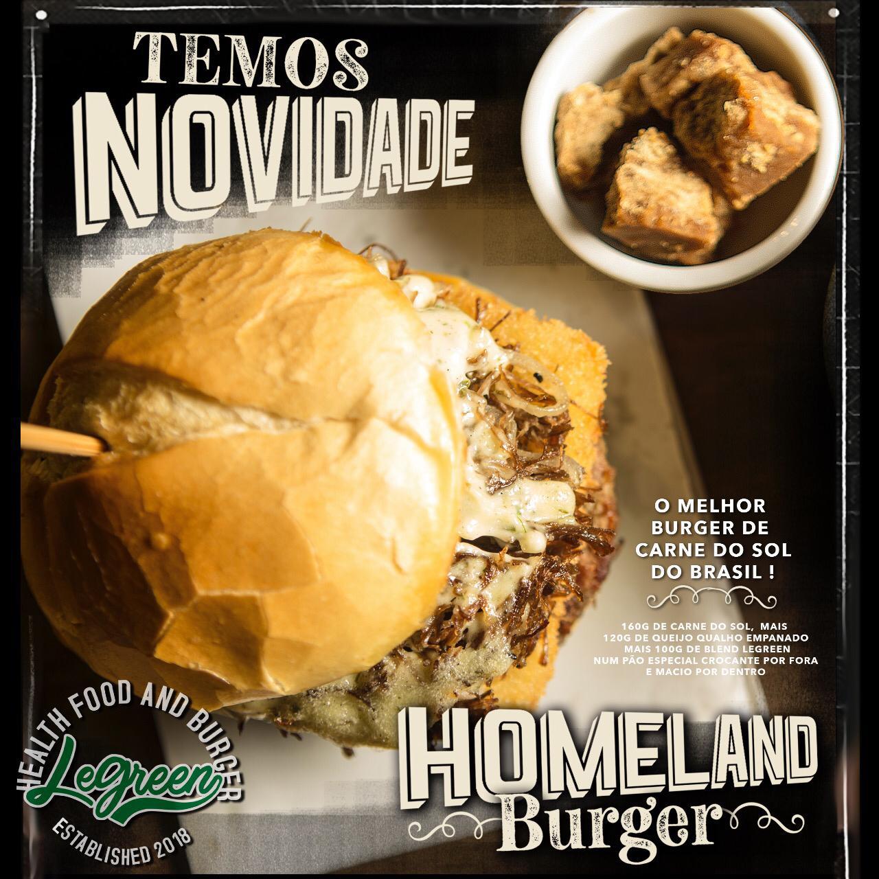 Homeland Burger de R$28,90 por apenas R$23,90