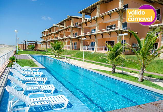 Feriado de Carnaval no Dream Away Uruaú Beach Residences! 5 diárias para 4 adultos + 1 criança de até 10 anos em Apartamento Mobiliado por R$2350 em até 6x sem Juros!