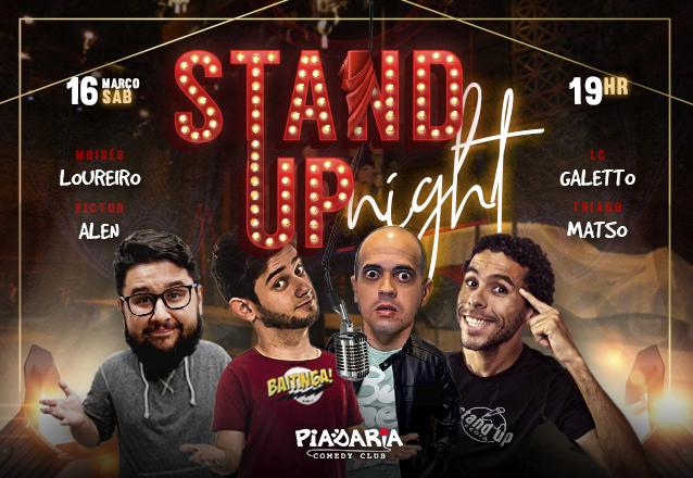 """Curte Stand Up? Ingresso Inteira para o """"Stand Up Night"""" com Moisés Loureiro e Victor Alen no Piadaria de R$40 por apenas R$20"""