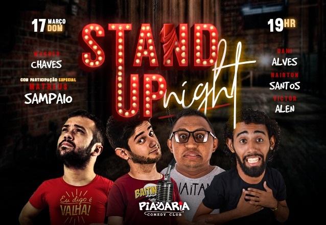 """Curte Stand Up? Ingresso Inteira para o """"Stand Up Night"""" com Victor Alen e convidados no Piadaria de R$40 por apenas R$20"""