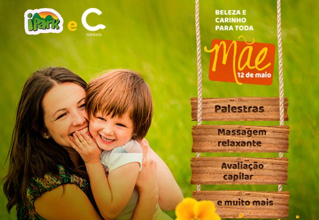 No dia 12 de maio o ingresso de entrada das MÃES é GRATUITO NO IPARK! Garanta seu ingresso e convide sua mãe para um dia especial de R$39 por apenas R$19,50