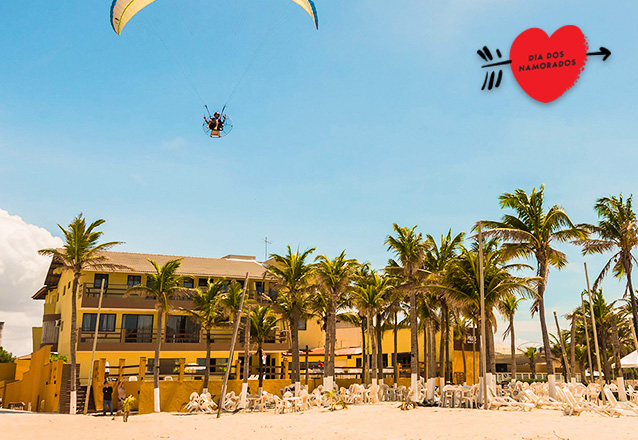 Aproveite esse dia especial no Milos Beach Hotel - Porto das Dunas! Hospedagem + Jantar Romântico para casal no Dia dos Namorados por R$350
