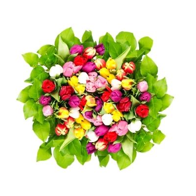 O seu amor merece um presente! Buquê de 12 rosas + Folhagens + Embalagem em celofane e laço + Gypsophila de R$100 por R$59,90 na Fujiflores