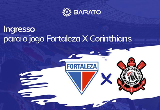 Oferta limitada! Ingresso Adulto na Arquibancada (Superior Central) para o jogo Fortaleza X Corinthians na Arena Castelão, Domingo dia 28/07 às 19h de R$50 por apenas R$29,90.
