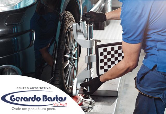 Alinhamento + Balanceamento para Carros Pequenos de R$84 por apenas R$59 na Gerardo Bastos RioMar Fortaleza