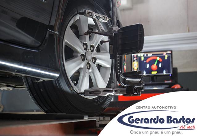 Alinhamento + Balanceamento + Regulagem de farol + Inspeção de Suspensão para Carros Pequenos de R$84 por apenas R$59 na Gerardo Bastos Via Sul