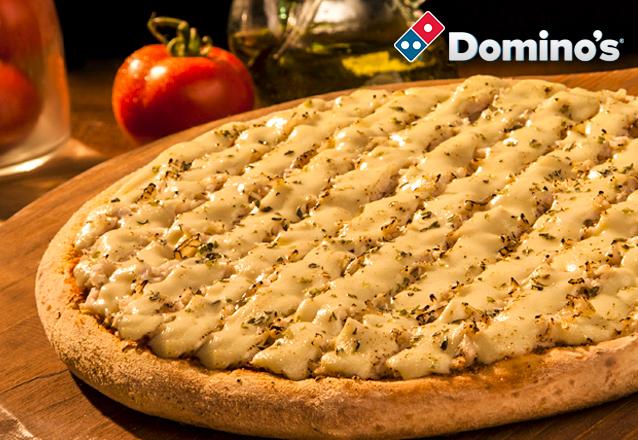Se você é louco por pizza, você é louco por Domino's! 1 Pizza Grande R$54,90 por apenas R$35. Válido para as lojas Domino's Iguatemi, North Shopping, Edson Queiroz (Buena Vista Mall), Bairro de Fátima e Shopping RioMar Fortaleza. Válido para todos os dias!