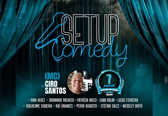 """Você merece se divertir! Ingresso Inteira para o """"Setup Comedy - Noite de novos Comediantes"""" de R$30 por R$10"""