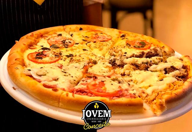Não existe melhor! 5 Sabores de Pizza Grande (Marguerita, Portuguesa, Mista, Atum e Calabresa) por apenas R$27,99