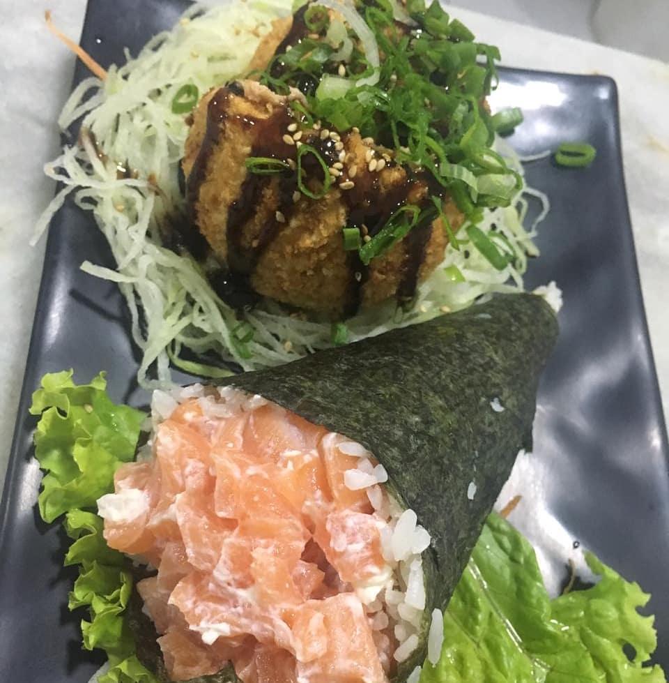 Temaki de atum ou kani (Carne de caranguejo) de 200g R$22 por apenas R$14,90