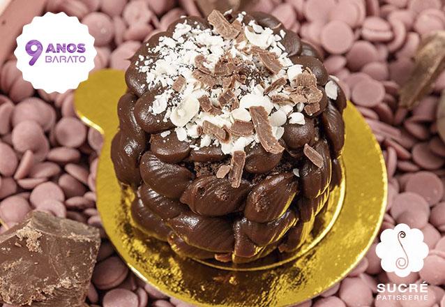 Oferta exclusiva de aniversário! 01 Mini Torta Brownie de R$15,30 por apenas R$7,90 na incrível Sucré Patisserie. Eleita a melhor doceria de 2018/19 pela Veja Comer e Beber Fortaleza!