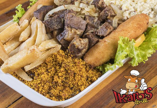 Almoço de Família é no Ikaro's Grill! Carne de Sol com Macaxeira, Camarão Termidor, Peixe à Delícia ou Filé à Baiana + 1 Jarra de Suco por apenas R$59,90
