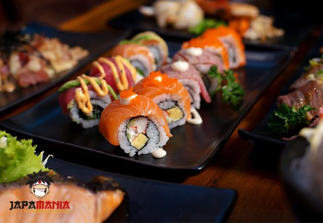 Rodízio de Sushi com acesso a todas as opções servidas no Buffet de Sushi para 1 pessoa de R$49,90 por R$39,90 - Japamania Conjunto Ceará
