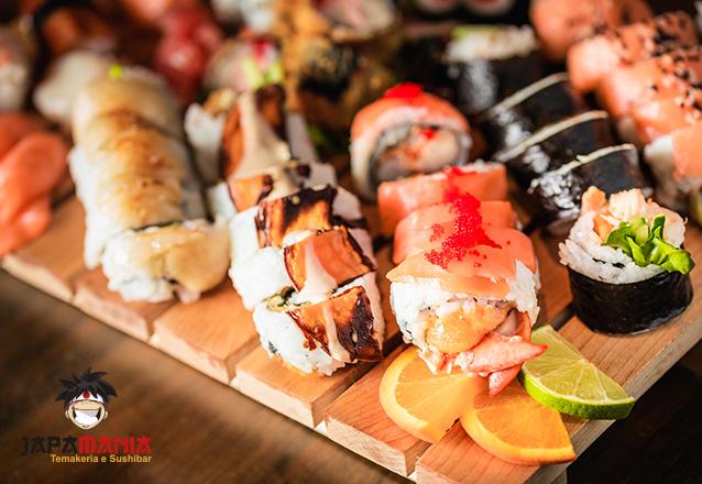 Rodízio de Sushi com acesso a todas as opções servidas no Buffet de Sushi para 1 pessoa de R$49,90 por R$39,90 - Japamania Maraponga