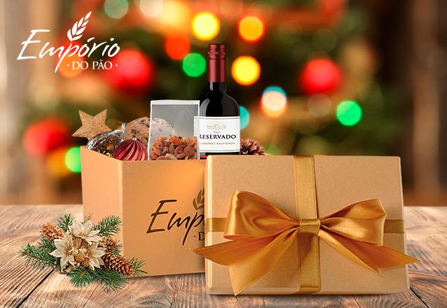 Presentei neste Natal com a linda Caixa Natalina da Empório do Pão de R$159,90 por R$129,90