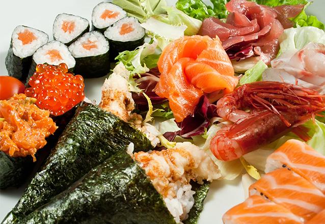 Rodízio de Sushi e Temaki para 01 pessoa por apenas R$39,90