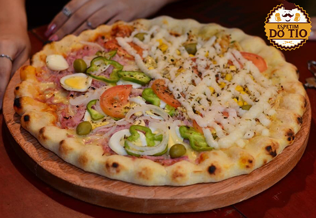 1 Pizza grande + Refrigerante de 1L de R$34,99 por apenas R$27,90