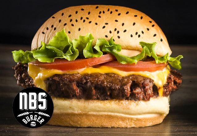 Hambúrguer delicioso é só no NBS + Barato! NBS Cheese por R$12,50