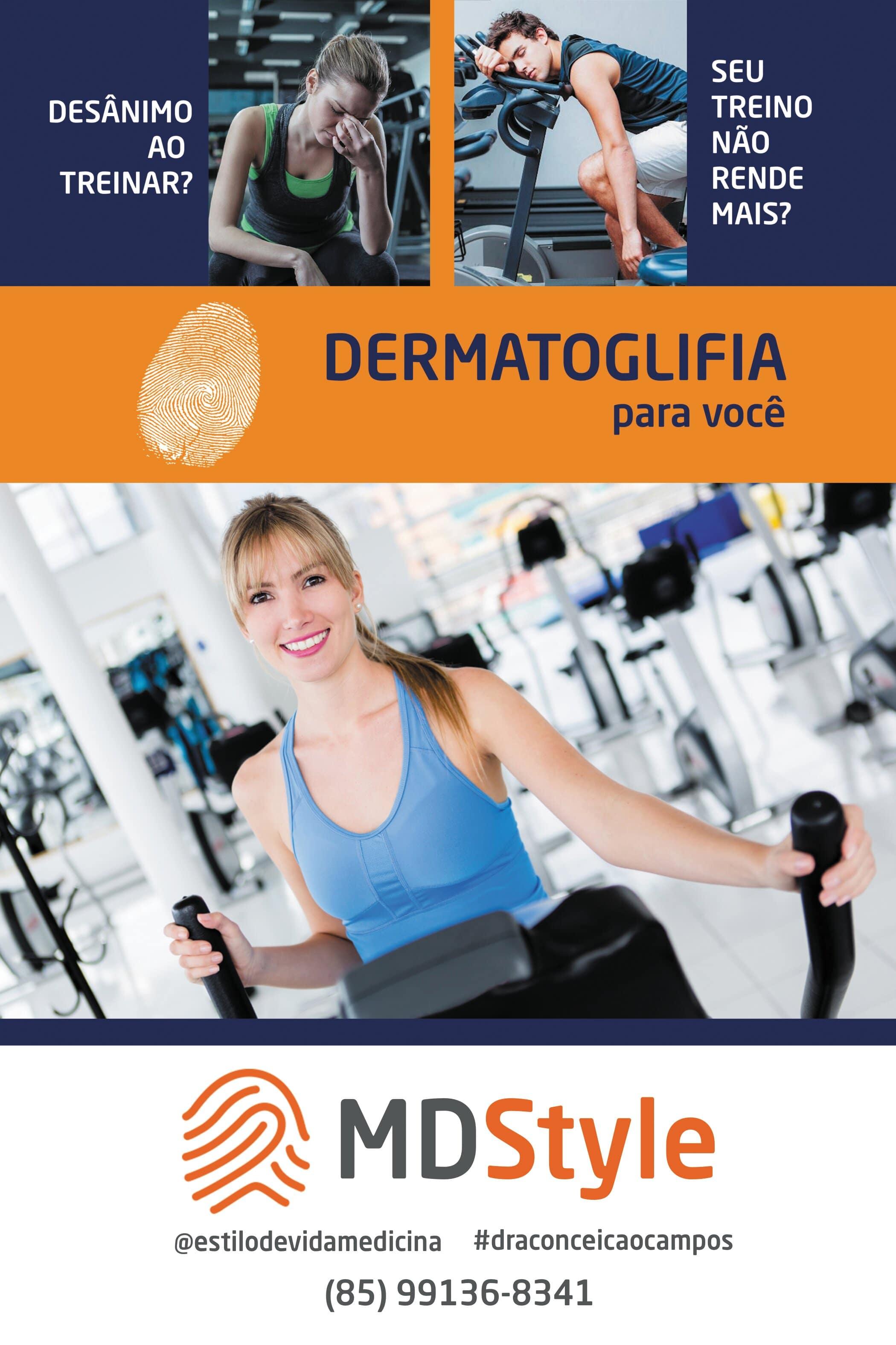 Descubra qual exercício é o melhor para você! Laudo Dermatoglífico de R$350 por apenas R$300 em até 3x sem Juros na MD Style
