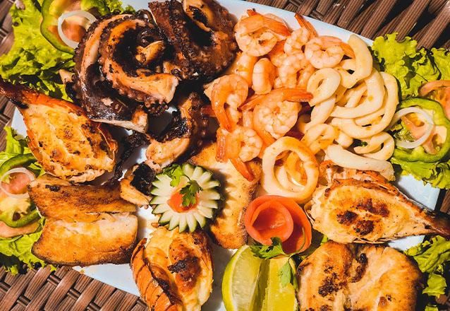 Massa de Frutos de Mar para 1 pessoa de R$55,50 por apenas R$49,90