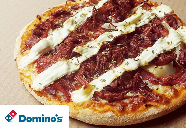 Oferta Relâmpago! 1 Pizza Brotinho de R$18,90 por apenas R$7,90. Válido para as lojas Domino's Iguatemi, North Shopping, Edson Queiroz (Buena Vista Mall), Bairro de Fátima e Shopping RioMar Fortaleza. Válido para todos os dias!