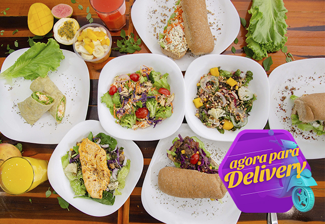 400g de Salada Completa com diversas opções de proteínas, molhos e ingredientes de R$20 por apenas R$14,90