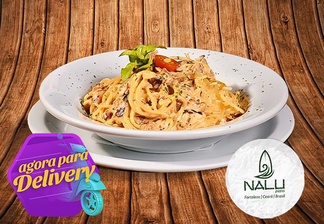 Espaguetes Nalu para 2 pessoas (Carbonara, Ao Sugo ou Ao Pesto) de R$65,80 por R$47,90