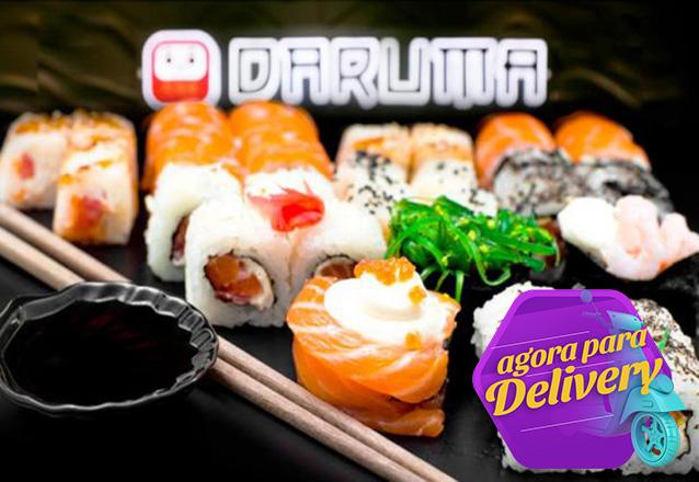 Combinado de Sushi com 20 peças (uramaki, hossomaki e hot) de R$37 por apenas R$27,50