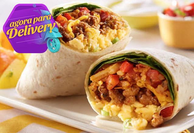 Burrito Mexicano de Frango ou Carne com Estilo In Delivery! De R$19,99 por apenas R$14,99