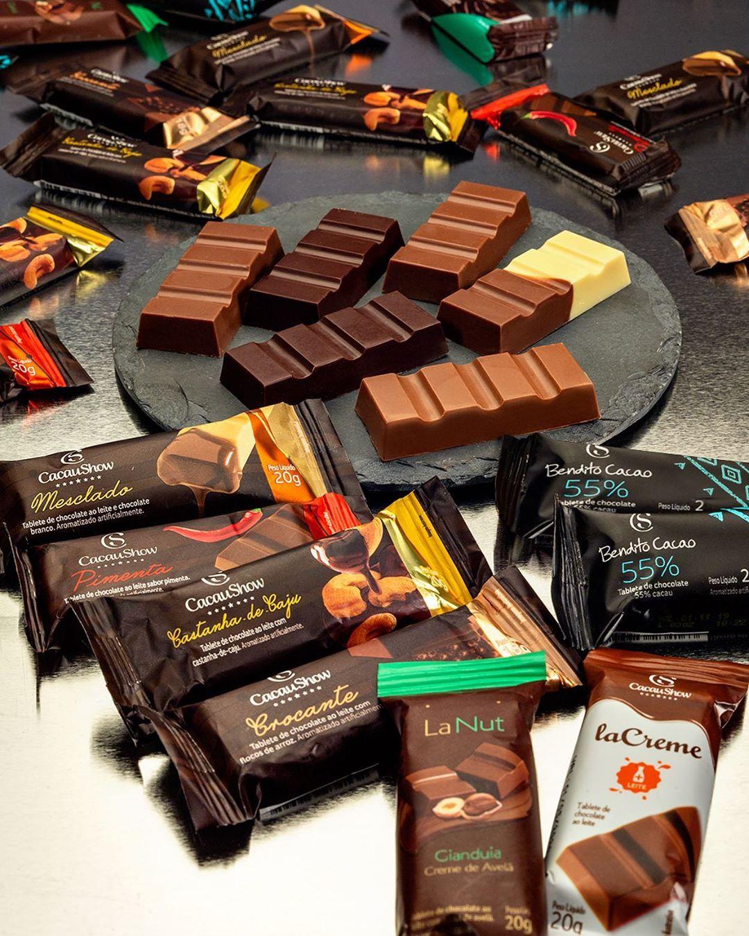 5 tabletes (18g e 20g cada) - linha tradicional, la creme ou bendito cacao por apenas R$9,90
