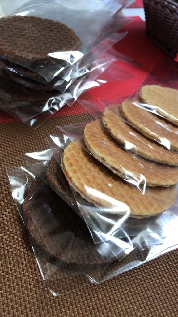 A Nova guloseima que é tendência: Biscoitos Stroopwafel! Pacote (recheio de Limão, Café, Caramelo, Chocolate ou Goiabada) com 6 unidades por apenas R$9,99