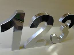 01 unidade de 10cm de Número em aço inox 430 + Manual de instalação por R$14,99 na Letraço Comunicação Visual