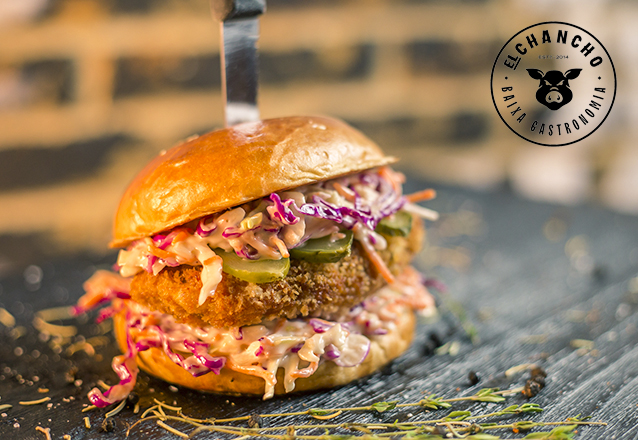 Burger Premiado + Barato! 1 Cheeseburger, Kentucky, Smash Pork ou Burger de Falafel de R$24 por apenas R$15,90 no El Chancho
