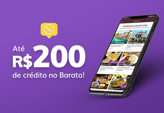 R$50 de Crédito no Barato por apenas R$42 (16% de desconto)