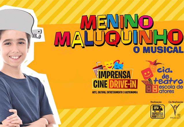 """Ingresso para o espetáculo """"Menino Maluquinho - O Musical"""" dia 12/09 às 17h30 de R$80 por apenas R$68"""