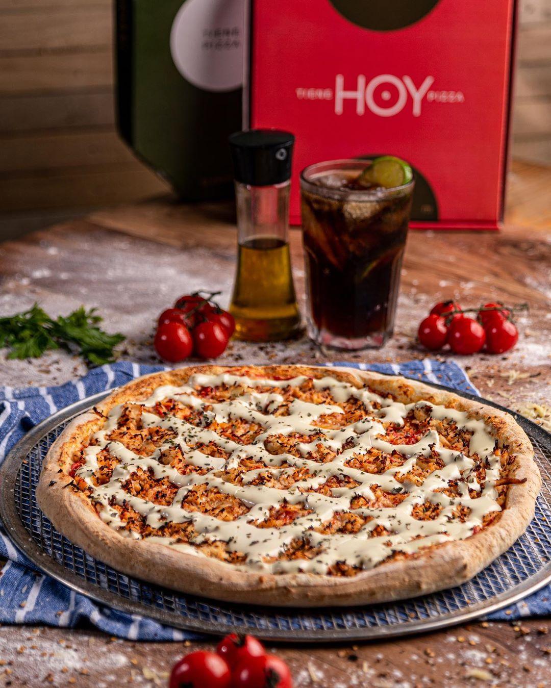 Super novidade no Barato! Pizza Artesanal de 35cm (8 fatias) de até R$35 por apenas R$25,90 na Hoy Pizzas
