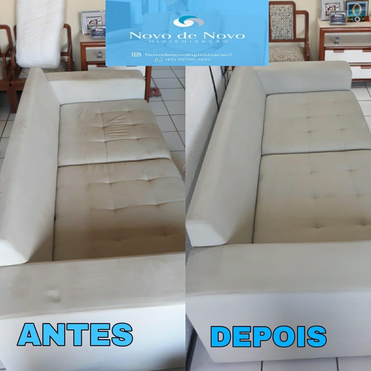 Lavagem de sofa de até 3 lugares tamanho (Padrão) ou cama box solteiro ou colchão solteiro ou conjunto de até 4 cadeiras de mesa de jantar De R$120,00 por apenas R$30,00