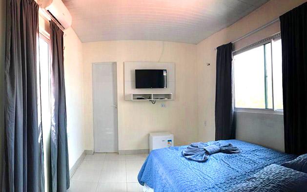 1 Diária (check in de domingo a quinta) para 2 pessoas + 1 Criança de 0 a 12 anos grátis (acomodada na mesma cama dos pais ou rede) + Café da Manhã de R$300 por apenas R$149,90