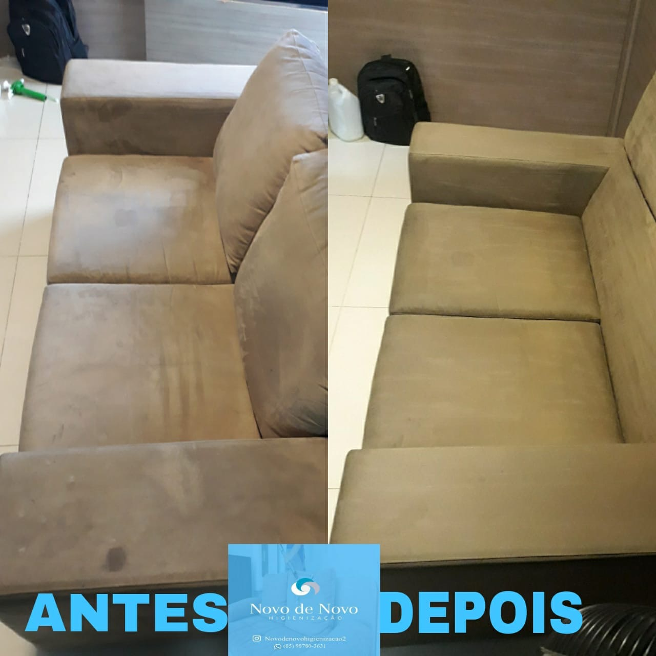 Lavagem de sofa de até 3 lugares, cama box ou colchão solteiro ou conjunto de até 4 cadeiras de R$120,00 por apenas R$38,99