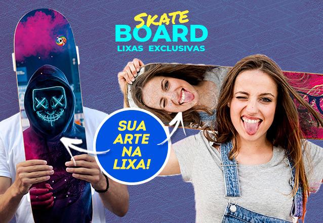Seu Skate vai ficar a sua cara! Lixa Customizada em Papel Grão 80 de R$89,99 por apenas R$62,90 na Joy Color