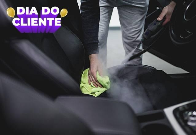 O melhor para o seu carro! Lavagem Interna Completa (bancos, teto, forros e cinto) + Lavagem Externa + Polimento de Faróis e Higienização do ar por apenas R$31,90! #Diadocliente
